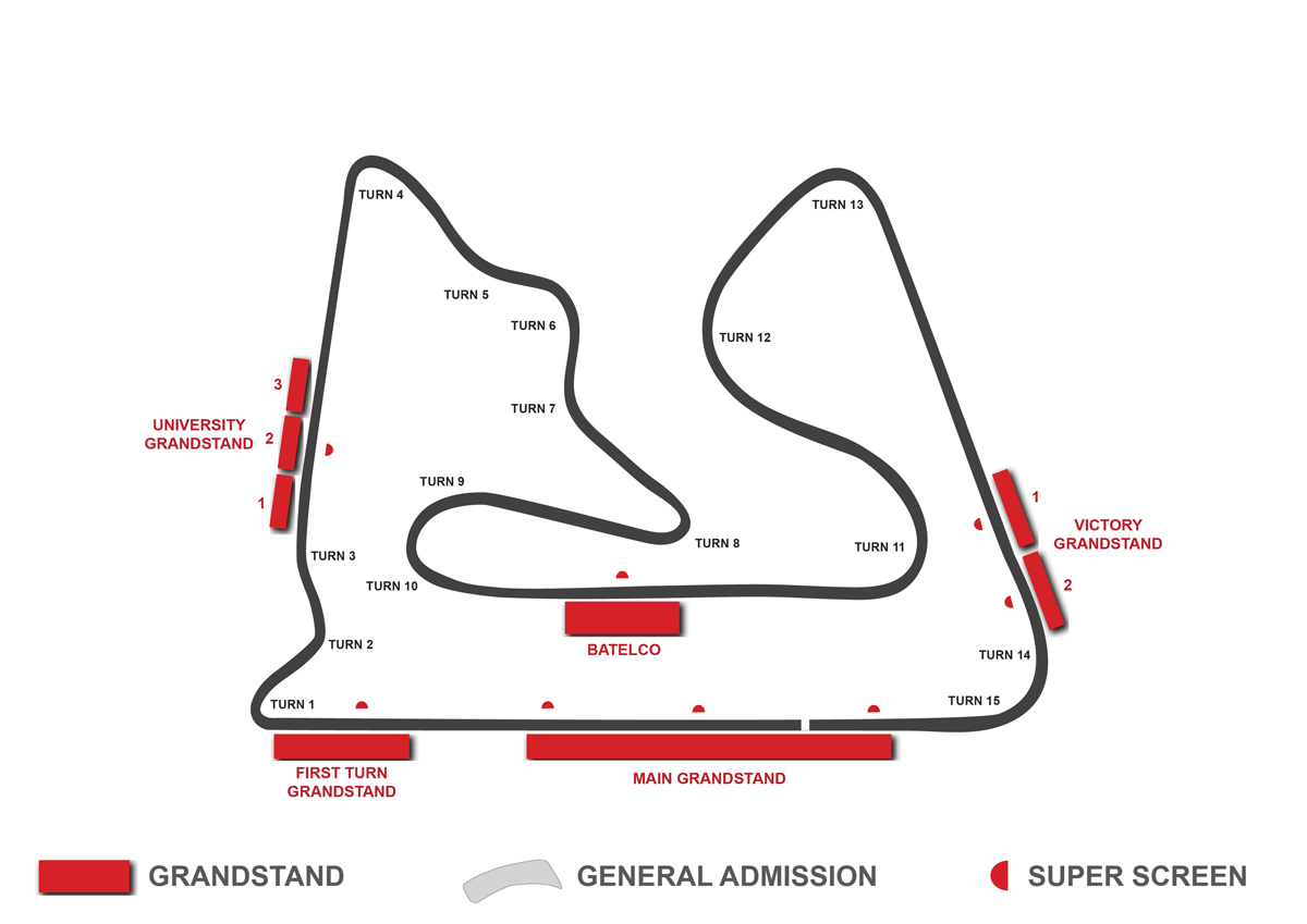 grandstand map bahrain f1
